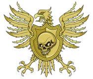 Mittelalterlicher Adler Browns mit Schild Lizenzfreie Stockbilder