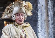 Mittelalterlicher Adlig - Venedig-Karneval 2014 lizenzfreies stockfoto