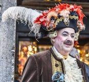 Mittelalterlicher Adlig - Venedig-Karneval 2014 stockfotografie