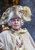 Mittelalterlicher Adlig - Venedig-Karneval 2014 stockbild