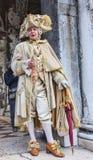 Mittelalterlicher Adlig - Venedig-Karneval 2014 Lizenzfreie Stockfotografie