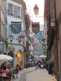 Mittelalterlicher aley Reiseschuß Lizenzfreie Stockfotografie