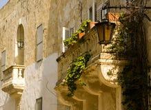 Mittelalterlicher barocker Balkon stockfotos