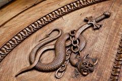 Mittelalterlicher Dämon - 11. Jahrhundert Stockfotos