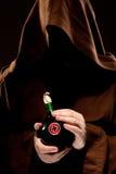 Mittelalterlicher Doktor des Geheimnisses mit Medizin Lizenzfreies Stockfoto