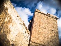 Mittelalterlicher Elefant des Turms Stockfoto