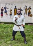 Mittelalterlicher Entertainer Stockfoto