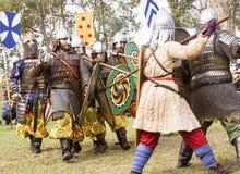 Mittelalterlicher Festival-Kampf Caboolture Stockbilder