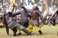 Mittelalterlicher Festival-Kampf Caboolture Stockfoto