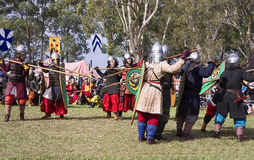 Mittelalterlicher Festival-Kampf Caboolture Stockbild