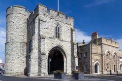 Mittelalterlicher Gatehouse Kent Westgate Stockfoto