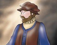 Mittelalterlicher Gefährte - Märchen vektor abbildung