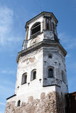 Mittelalterlicher Glockenturm in Vyborg Stockfotos