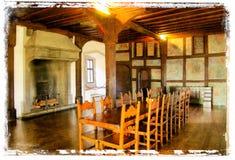 Mittelalterlicher Innenraum stockfotografie