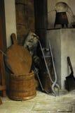 Mittelalterlicher Innenraum Stockfoto