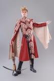 Mittelalterlicher König Stockbild