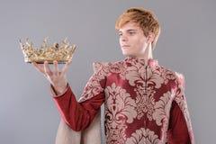 Mittelalterlicher König Lizenzfreies Stockfoto