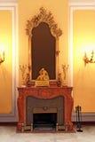 Mittelalterlicher Kamin stockbilder
