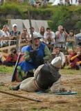 Mittelalterlicher Kampf des 13. Jahrhunderts Lizenzfreie Stockfotos