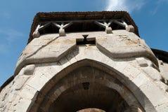 Mittelalterlicher Kontrollturm in Rothenburg lizenzfreies stockbild