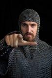 Mittelalterlicher Krieger Stockfotografie