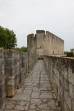 Mittelalterlicher Markstein des Schlosses Stockbild