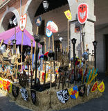 Mittelalterlicher Markt Stockbild