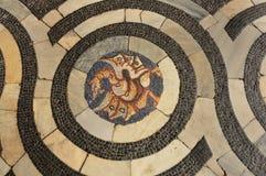 Mittelalterlicher Mosaikfußboden Lizenzfreie Stockbilder
