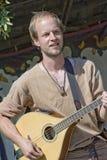 Mittelalterlicher Musiker Stockfotos