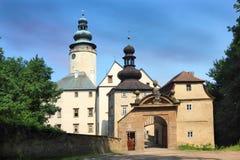 Mittelalterlicher Palast komplexes Lemberk in der Tschechischen Republik lizenzfreie stockfotos