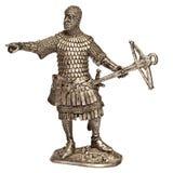 Mittelalterlicher Ritter-Zinn-Soldat Stockfotos