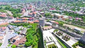 Mittelalterlicher Schlosskomplex Jakeli-Schlosses in Akhaltsikhe, Rabati-Schloss, Georgia Lomisa-Schloss stock footage