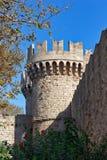 Mittelalterlicher Schlosskontrollturm Stockbild