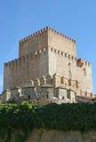 Mittelalterlicher Schlosskontrollturm Stockfotos