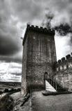 Mittelalterlicher Schlosskontrollturm Lizenzfreie Stockfotografie