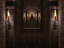 Mittelalterlicher Schlosskorridor Lizenzfreies Stockbild