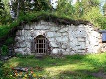 Mittelalterlicher Steinkühlraum Lizenzfreies Stockfoto