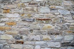 Mittelalterlicher Steinwand-Hintergrund stockfoto