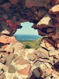 Mittelalterlicher Turm in Korsika Stockfoto
