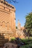 Mittelalterlicher verstärkter moslemischer Friedhof gelegen in Rabat stockbilder