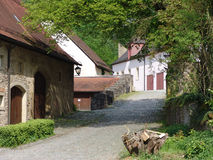 Mittelalterlicher Weg Stockfoto