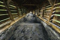 Mittelalterliches abgedecktes Treppenhaus Stockbild