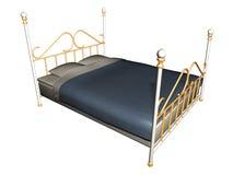Mittelalterliches Bett Lizenzfreie Stockbilder
