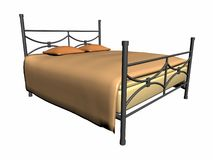 Mittelalterliches Bett Stockfoto