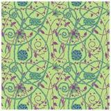 Mittelalterliches Blumenmustergrün Lizenzfreie Stockfotos