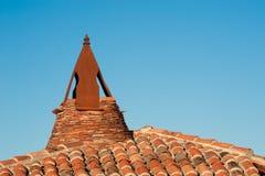 Mittelalterliches Dach Stockfoto
