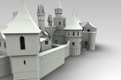 Mittelalterliches Dorf übertragen lizenzfreie abbildung
