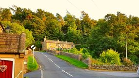 Mittelalterliches Dorf Blanchland Stockfotografie