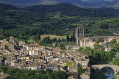 Mittelalterliches Dorf Lagrasse Stockfotos