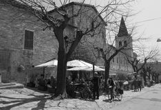Mittelalterliches Dorf Spello in Italien Lizenzfreies Stockfoto